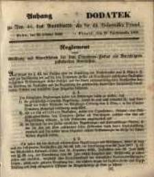Dodatek do Nr. 44. Dziennika Urzęd. Poznań, 29. Października 1850