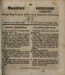 Amtsblatt der Königlichen Regierung zu Posen. 1848.10.18 Nro.42