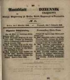 Amtsblatt der Königlichen Regierung zu Posen. 1848.11.08 Nro.45