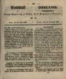 Amtsblatt der Königlichen Regierung zu Posen. 1856.04.29 Nro.18