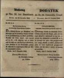 Dodatek do Nr. 50. Dziennika Urzęd. Poznań, 12. Grudnia 1848.