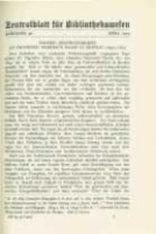 Zentralblatt für Bibliothekswesen. 1929.03 Jg.46 heft 3