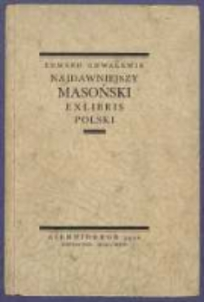 Najdawniejszy masoński exlibris polski