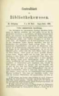 Centralblatt für Bibliothekswesen. 1885.09-10 Jg.2 heft 9-10