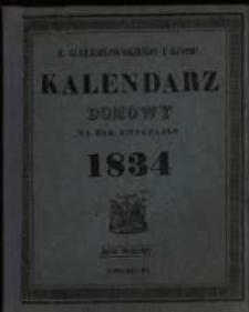 Kalendarz Domowy na Rok Zwyczajny 1834 mający dni 365