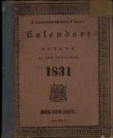 Kalendarz Domowy na Rok Zwyczajny 1831 maiący dni 365