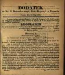 Dodatek do Nr. 21. Dziennika Urzęd. Król. Regencyi w Poznaniu. Poznań, dnia 22. Maja 1860.