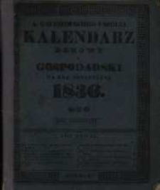 Kalendarz Domowy i Gospodarski na Rok Przestępny 1836