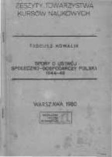 Spory o ustrój społeczno-gospodarczy Polski 1944-1948