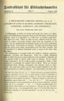 Zentralblatt für Bibliothekswesen. 1938.08 Jg.55 heft 8
