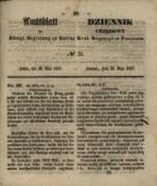 Amtsblatt der Königlichen Regierung zu Posen. 1857.05.26 Nro.21