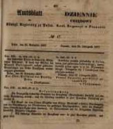 Amtsblatt der Königlichen Regierung zu Posen. 1857.11.24 Nro.47