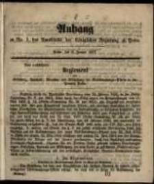 Anhang zu No. 1 des Amtsblatts ... Posen, den 6. Januar 1857