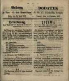 Anhang zu Nro. 15. des Amtsblatts ... Posen, den 14. April 1857