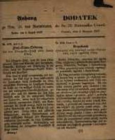 Anhang zu Nro. 31. des Amtsblatts. Posen, den 4. August 1857