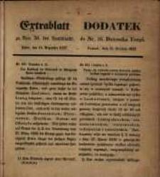 Centralblatt zu Nro. 50. des Amtsblatts... Posen, den 15. Dezember 1857