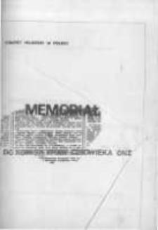 Memoriał. Do Komisji Praw Człowieka ONZ. Dokumenty Komitetu Helsińskiego w Polsce, marzec 1984
