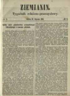 Ziemianin. Tygodnik rolniczo-przemysłowy 1861.01.19 Nr3