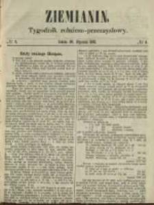 Ziemianin. Tygodnik rolniczo-przemysłowy 1861.01.26 Nr4