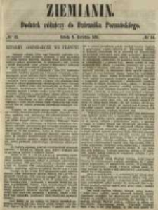 Ziemianin. Dodatek rólniczy do Dziennika Poznańskiego 1861.04.06 Nr14