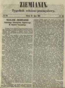 Ziemianin. Tygodnik rolniczo-przemysłowy 1861.07.13 Nr28