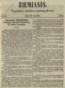 Ziemianin. Tygodnik rolniczo-przemysłowy 1861.07.20 Nr29