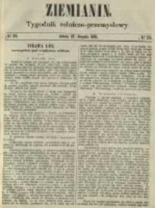 Ziemianin. Tygodnik rolniczo-przemysłowy 1861.08.17 Nr33