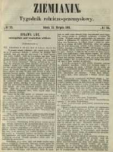Ziemianin. Tygodnik rolniczo-przemysłowy 1861.08.31 Nr35