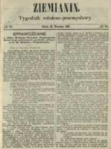 Ziemianin. Tygodnik rolniczo-przemysłowy 1861.09.21 Nr38