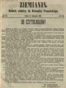 Ziemianin. Dodatek rólniczy do Dziennika Poznańskiego 1861.11.09 Nr45