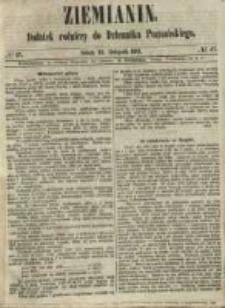 Ziemianin. Dodatek rolniczy do Dziennika Poznańskiego 1861.11.23 Nr47