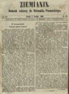 Ziemianin. Dodatek rolniczy do Dziennika Poznańskiego 1861.12.07 Nr49