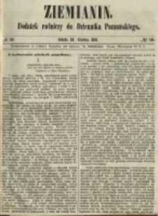 Ziemianin. Dodatek rolniczy do Dziennika Poznańskiego 1861.12.14 Nr50