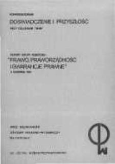 """Raport grupy roboczej """"Prawo, praworządność i gwarancje prawne"""".5 sierpnia1981"""