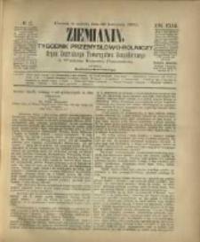 Ziemianin. Tygodnik przemysłowo-rolniczy; organ Centralnego Towarzystwa Gospodarczego w Wielkiem Księstwie Poznańskiem 1882.04.29 R.32 Nr17