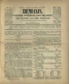 Ziemianin. Tygodnik przemysłowo-rolniczy; organ Centralnego Towarzystwa Gospodarczego w Wielkiem Księstwie Poznańskiem 1882.05.20 R.32 Nr20