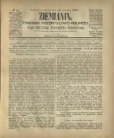 Ziemianin. Tygodnik przemysłowo-rolniczy; organ Centralnego Towarzystwa Gospodarczego w Wielkiem Księstwie Poznańskiem 1882.06.24 R.32 Nr25