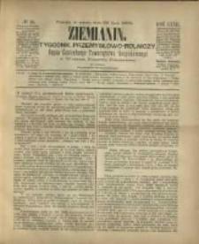 Ziemianin. Tygodnik przemysłowo-rolniczy; organ Centralnego Towarzystwa Gospodarczego w Wielkiem Księstwie Poznańskiem 1882.07.29 R.32 Nr30