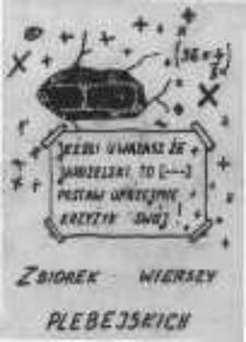 Zbiorek Wierszy Plebejskich Wielkopolska Biblioteka Cyfrowa