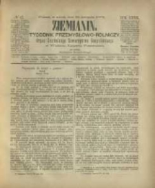 Ziemianin. Tygodnik przemysłowo-rolniczy; organ Centralnego Towarzystwa Gospodarczego w Wielkiem Księstwie Poznańskiem 1882.11.25 R.32 Nr47