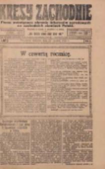 Kresy Zachodnie: pismo poświęcone obronie interesów narodowych na zachodnich ziemiach Polski 1924.01.20 R.2 Nr10