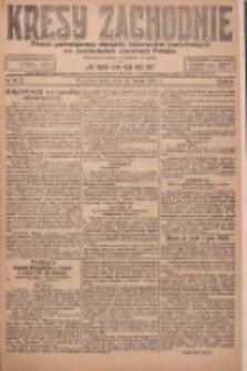 Kresy Zachodnie: pismo poświęcone obronie interesów narodowych na zachodnich ziemiach Polski 1924.02.13 R.2 Nr18