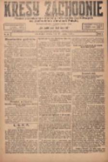 Kresy Zachodnie: pismo poświęcone obronie interesów narodowych na zachodnich ziemiach Polski 1924.03.22 R.2 Nr36