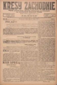 Kresy Zachodnie: pismo poświęcone obronie interesów narodowych na zachodnich ziemiach Polski 1924.03.29 R.2 Nr41