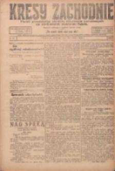 Kresy Zachodnie: pismo poświęcone obronie interesów narodowych na zachodnich ziemiach Polski 1924.03.30 R.2 Nr42