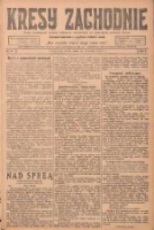 Kresy Zachodnie: pismo poświęcone obronie interesów narodowych na zachodnich ziemiach Polski 1924.04.23 R.2 Nr61