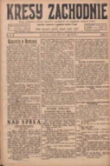 Kresy Zachodnie: pismo poświęcone obronie interesów narodowych na zachodnich ziemiach Polski 1924.05.20 R.2 Nr82