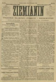 Ziemianin. Tygodnik naukowo-rolniczy i ekonomiczny; organ Centralnego Towarzystwa Gospodarczego w Wielkiem Księstwie Poznańskiem 1905.04.22 R.55 Nr16