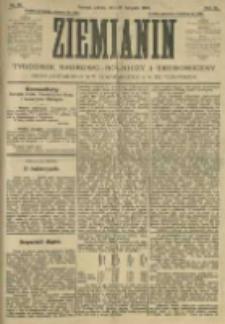 Ziemianin. Tygodnik naukowo-rolniczy i ekonomiczny; organ Centralnego Towarzystwa Gospodarczego w Wielkiem Księstwie Poznańskiem 1905.11.18 R.55 Nr46