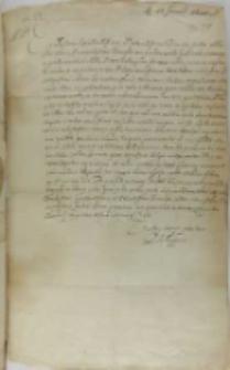 List Filipa III króla Hiszpanii do króla Zygmunta III, Madryt 28.01.1600